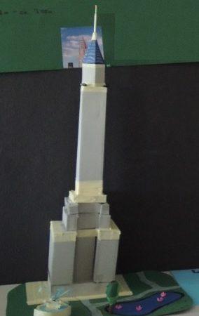 Fertiges Modell des Empire State Buildings