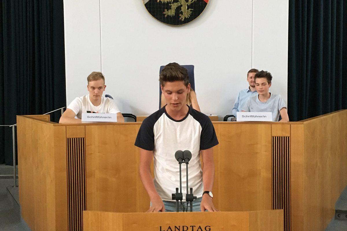 Besuch des Landtags Rheinland-Pfalz in Mainz