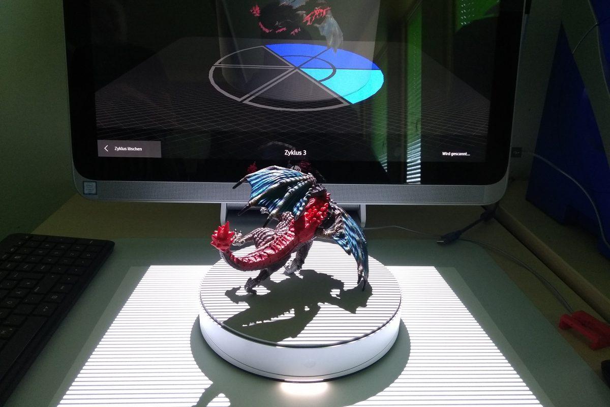 3D-Scan und 3D-Druck einer Spielfigur