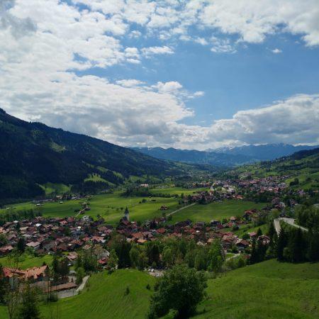 Blick über Bad Oberdorf und Hindelang