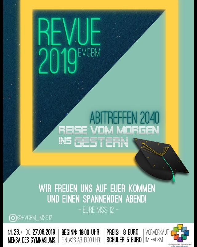 Revue 2019 – Vorverkauf gestartet