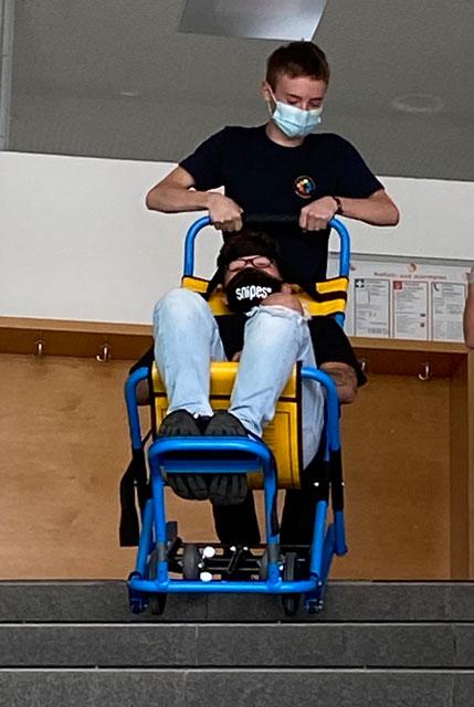 Evakuierung für Mobilitätseingeschränkte