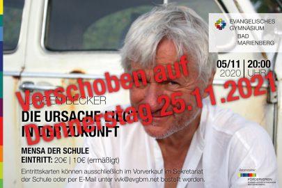 Verschiebung Kabarett Mit Jurgen Becker Ersatztermin 25 11 2021 Evangelisches Gymnasium Bad Marienberg