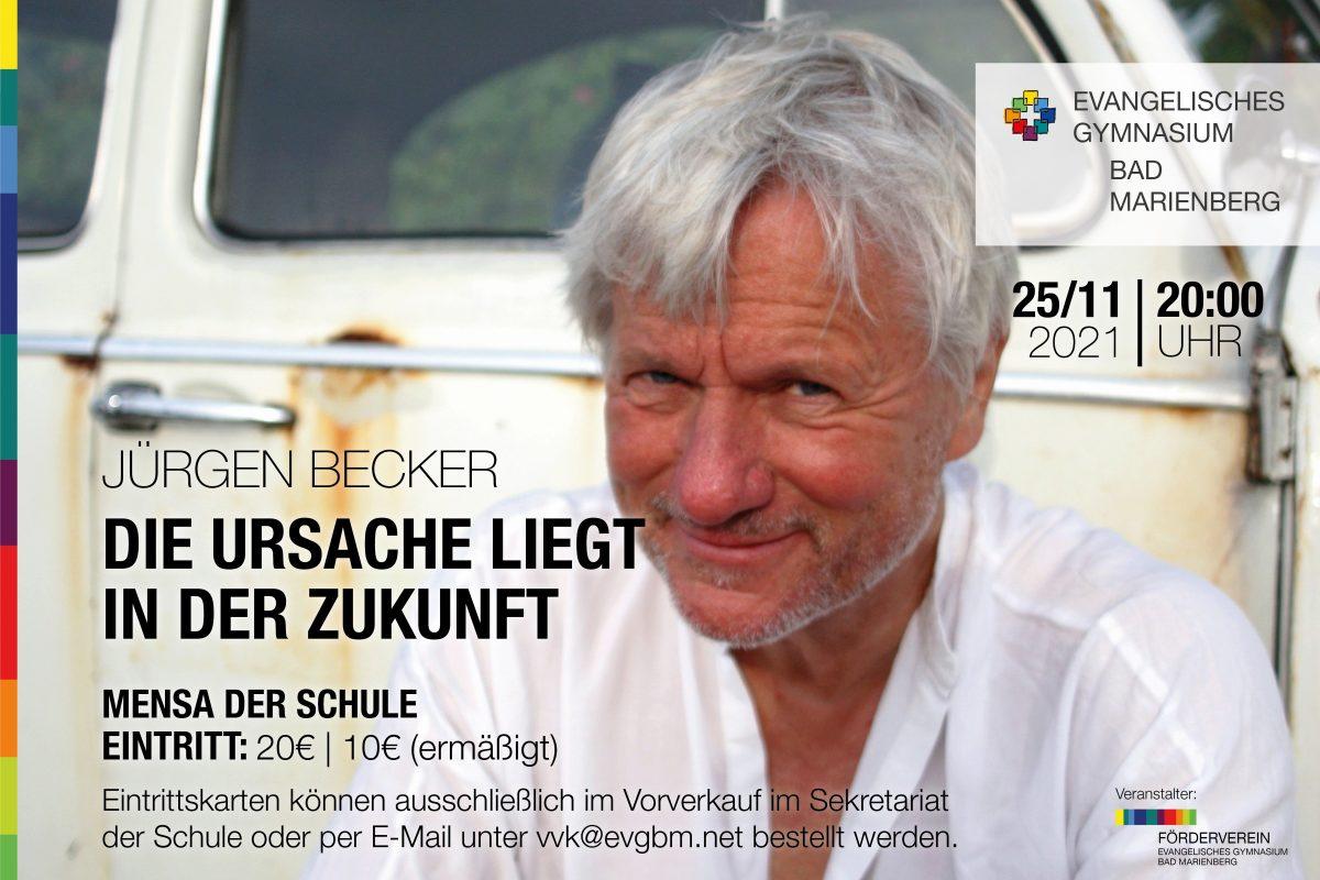 Kulturprogramm wird wieder aufgenommen: Jürgen Becker – Die Ursache liegt in der Zukunft